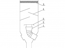 一种应用于MVR结晶器的ballbet贝博app下载式汽液分离结构